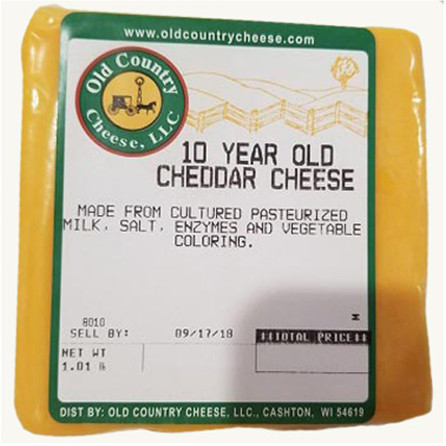 1 lb. 10 Year Old Cheddar