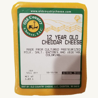 1 lb. 12 Year Old Cheddar