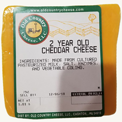 1 lb. 2 Year Old Cheddar