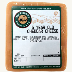 1 lb. 5 Year Old Cheddar