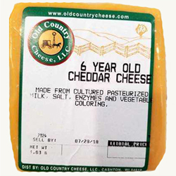 1 lb. 6 Year Old Cheddar