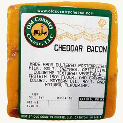 1 lb. Cheddar Bacon Cheese