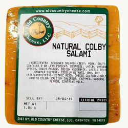 1 lb. Colby Salami Cheese