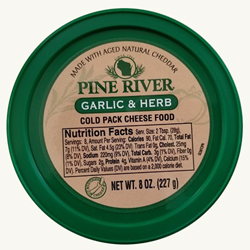 Pine River Cheese Spreads - Garlic & Herb