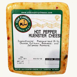 1 lb. Hot Pepper Muenster Cheese