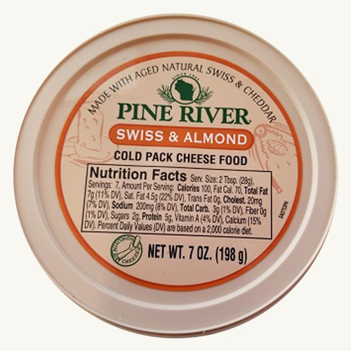 Pine River Cheese Spreads - Swiss Almond